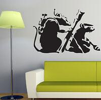 BANKSY RATS WALL STICKER ART DECALS BA15