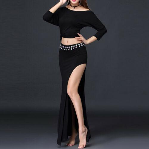Hot Belly Dance Costume Long Skirt Training full Skirt Dance Practice full sets