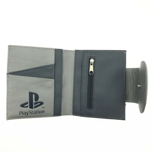 New PlayStation 1 PS1 Gamer Geek Retro Leather Slim Wallet Card Holder Gift