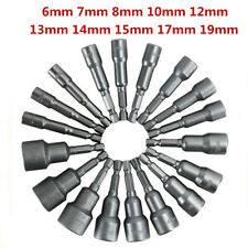 """Magnetic Nut Driver Drill Bits Set 65mm 1//4/"""" Hex Shank 6-15mm Socket Wrench"""