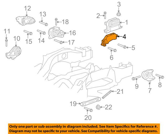 05 10 cobalt coupe pontiac g5 oem gm engine mount bracket 15854396 gm oem engine front mount bracket 15854396