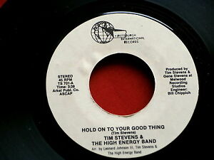 TIM-STEVENS-HOLD-ON-TO-YOUR-GOOD-THING-YOU-ARE-MY-MUSIC-NEAR-MINT-SOUL-45