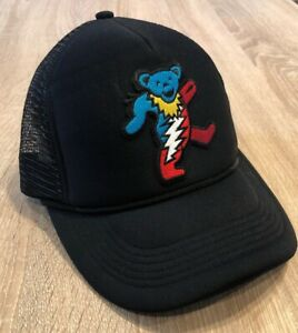 577e60f39 Details about GRATEFUL DEAD Hat Embroidered Bear Patch Rock Distressed Band  Punk Cap Music