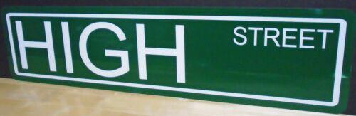 HIGH STREET METAL STREET SIGN 70/'S SHOW MANCAVE GARAGE BAR