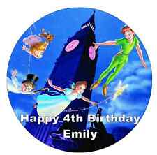 "Peter PAN Disney personalizzati CAKE TOPPER 7,5 ""wafer commestibile carta"