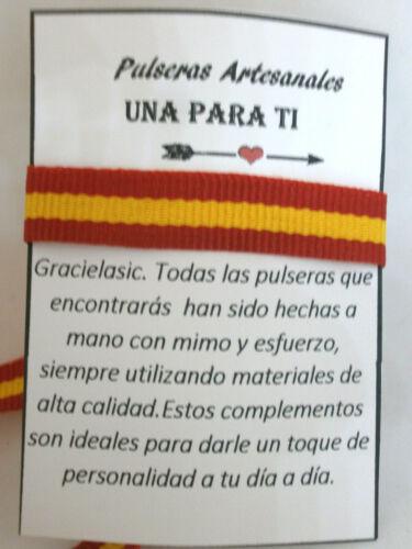 """Ajustable Pulsera Amistad /""""ESPAÑA/""""   cinta de 1 cm"""