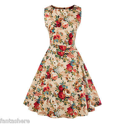 Plus Size 1950s Vintage Style Swing Womens Retro Rockabilly Evening Party Dress