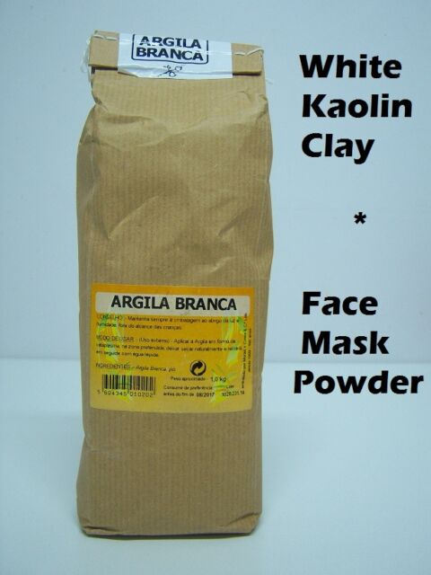 WHITE KAOLIN CLAY | FACE SKIN MASK POWDER | 125g 1kg - Organic natural clay