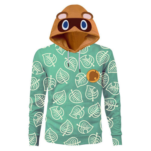 Game Animal Crossing Print Timmy/&Tommy Tom Nook Hoodie Sweatshirt Pullover Coat