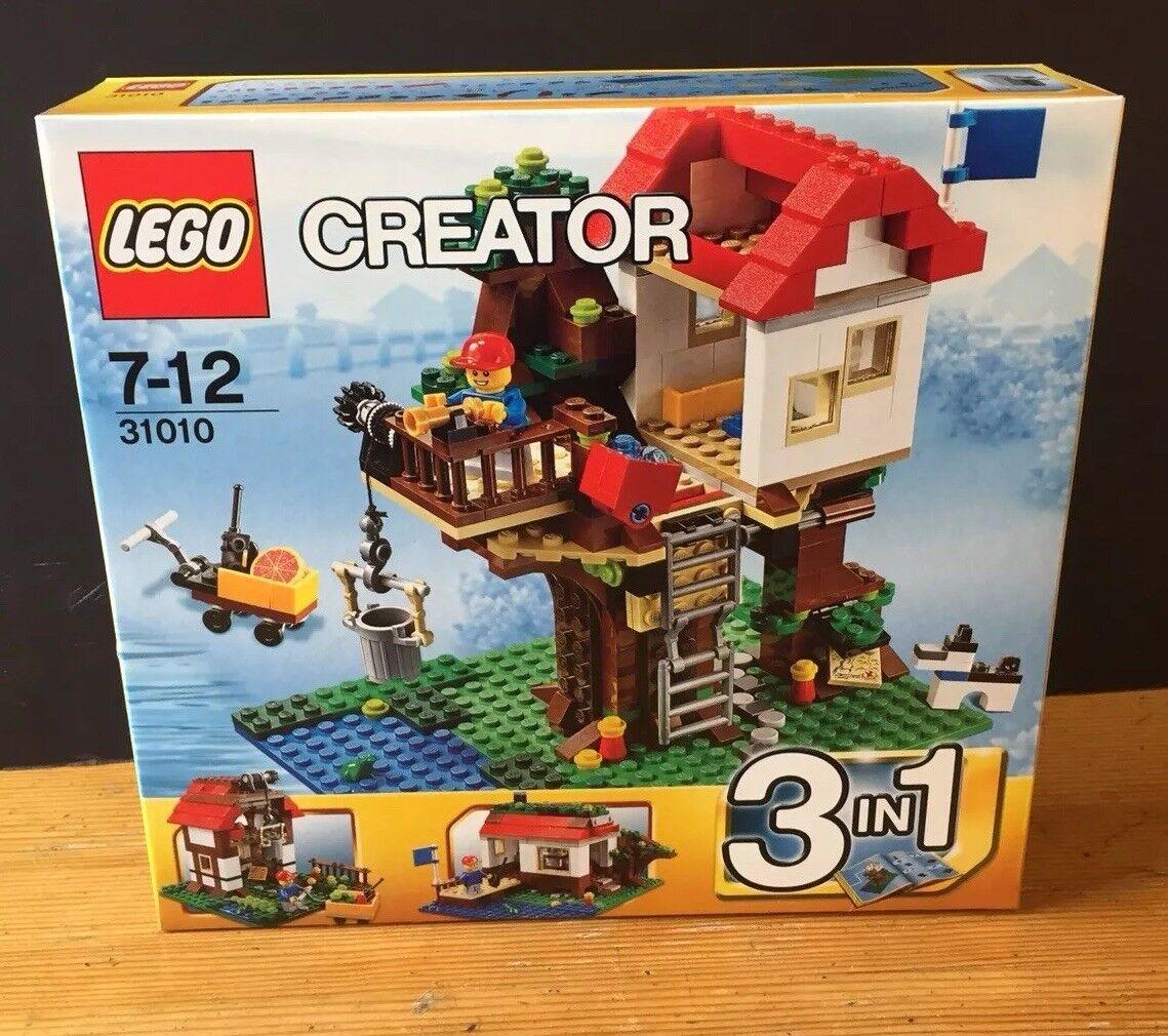 LEGO CREATOR 3 in 1 Set 31010 CASA SULL'ALBERO NUOVO  SIGILLATO TREEHOUSE ritirato Set  alta quaità