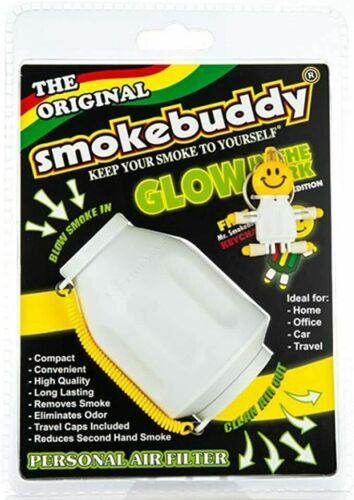 "Smoke Buddy Original PERSONAL AIR FILTER WHITE GITD /""GLOW GREEN/"""