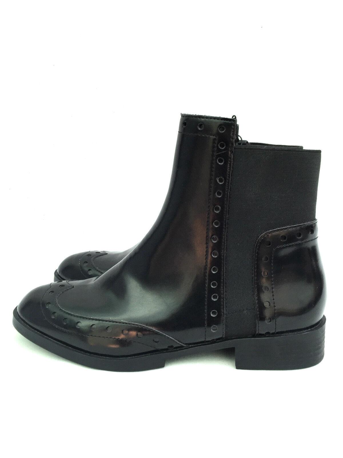 ZARA ANKLE US10 Stiefel SIZE UK8 EUR41 US10 ANKLE REF 2150 001 Damenschuhe BLACK Schuhe 90f7b0