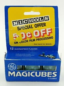 Vintage-Nichols-GE-Magicubes-3-Cubes-12-Flashes-In-Box
