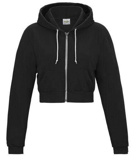 Pink Black AWDIS démoniaque Ladies Cropped Zoodie Women/'s Short Length Hoodie Grey
