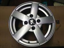 Genuine new Peugeot alloy wheel 206 9715 1R Quick silver Hurricane J14 H2
