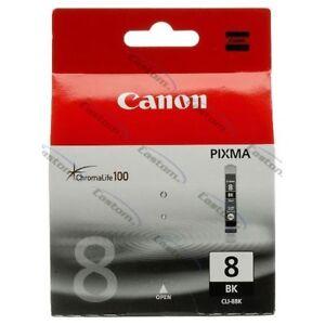 CARTUCCIA-CANON-CLI-8BK-NERA-NUOVA-ORIGINALE-GENUINE-0620B001