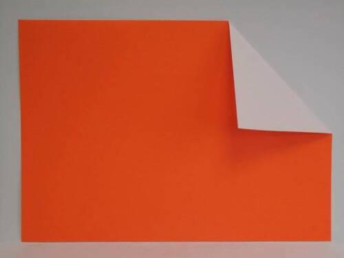 50x 1-verso A4 135gsm fluorescentes orange fluorescent affiche dépliant flyer paper AM138