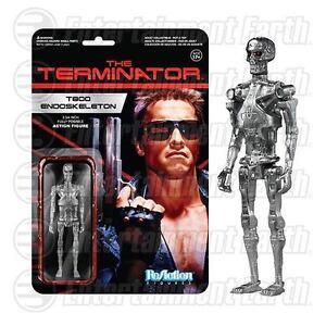 """T-800 ENDOSKELETON GUN METAL The Terminator 3 3//4/"""" Reaction Retro Figure 2014"""