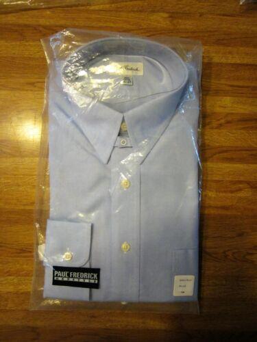 NEW Paul Fredrick Men/'s 16 100/% Cotton 37 Light Blue Dress Shirt 7328