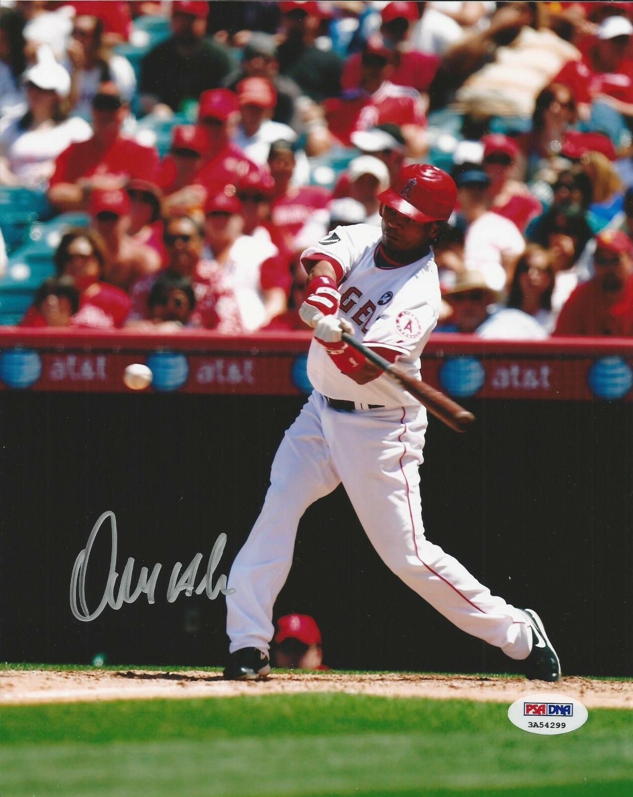 Erick Aybar Los Angeles Angels signed 8x10 photo PSA/DNA # 3A54299