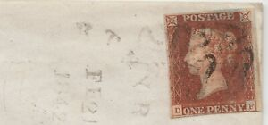 1840-Penny-Red-on-Wrapper-Spec-AS47-Plate-8-DF-Fine-used-4-Gooid-Margins