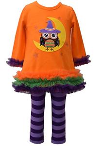 d433a7fcf Bonnie Jean Girls Halloween Owl Witch Fall Knit Dress Leggings 12M ...