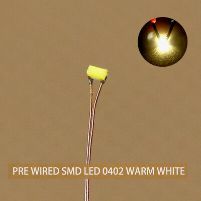 Details about  /T1206W 20pcs Pre-soldered micro litz wired leads Bright White SMD Led 1206 NEW