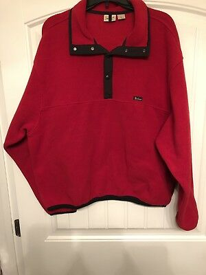 In Red,size Xl*d Excellent Quality Inventive Woolrich Polartec 1/4 Snap Mock Neck Fleece Pullover Shirt