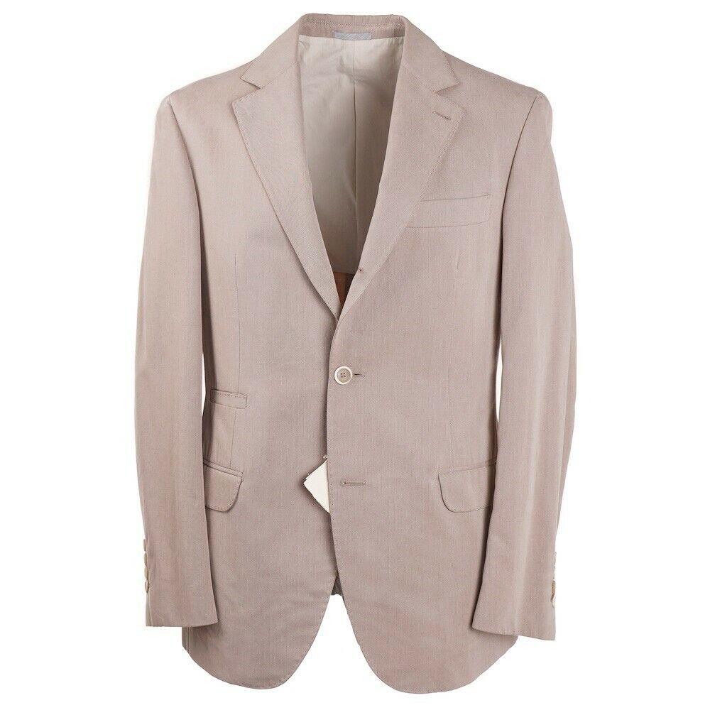 NWT  BRUNELLO CUCINELLI Slim-Fit Tan Cotton Travel Sport Coat 40 R ()