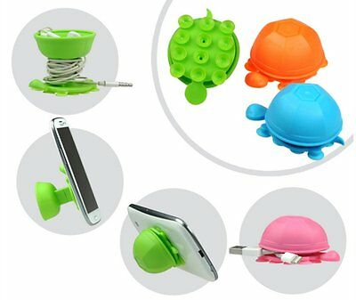 Turtle Cable Cord Organizer Wrap Wire Winder Earphone Holder & Phone Holder