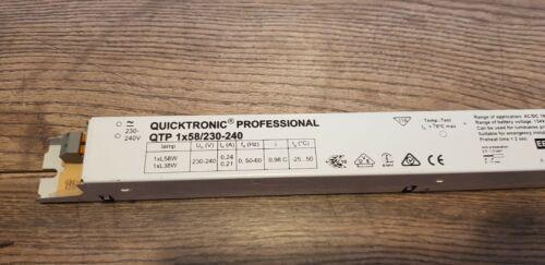 Quicktronic Professional QTP 1x58W Vorschaltgerät EVG Elektronisches Starter