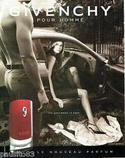 PUBLICITE ADVERTISING 056  2003  Givenchy  parfum pour homme GENTLMEMAN