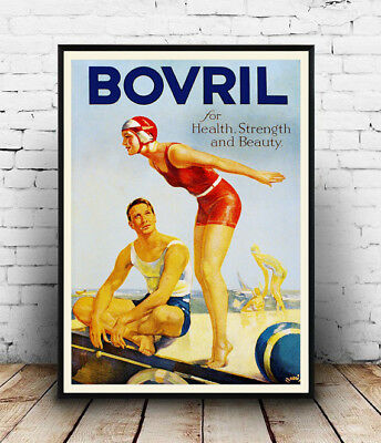 Wall art. Vintage Magazine advertising Reproduction poster Bovril