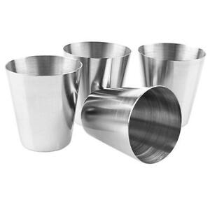2-4PCS-Stainless-Steel-Cup-Mug-Drinking-Coffee-Tea-Camping-Beer-travel-mini-TY