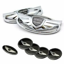 3D Chrome 7pc Set Emblem Made in Korea (Fits: Hyundai 2010-2015 Genesis Coupe)
