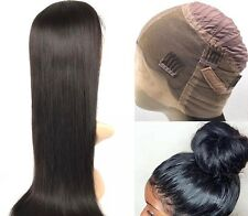 Best Quality Glueless Cap Yaki Straight Human Hair Full Lace Wig !!