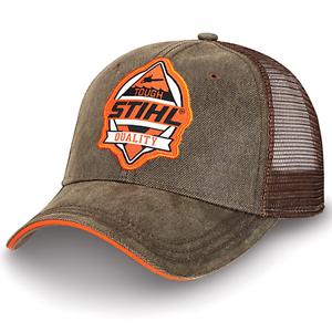 e5790e61727de Image is loading Stihl-Orange-and-Brown-Mesh-TOUGH-Hat-Cap