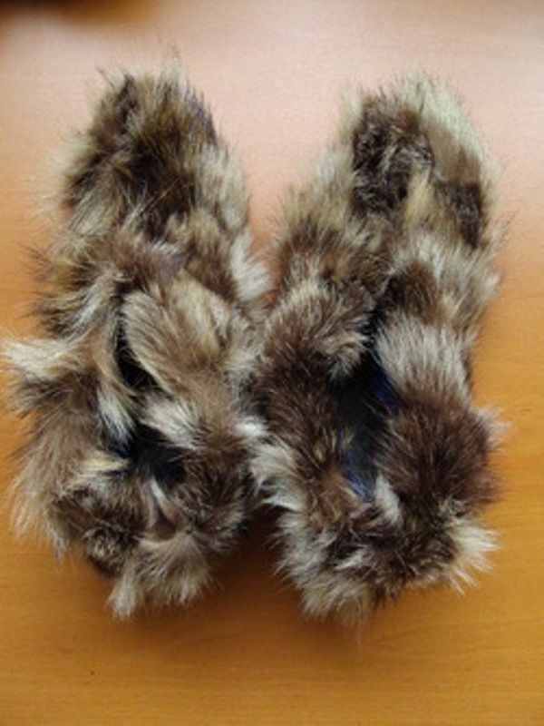 NEW RACCOON RACCON FUR SECTIONS SLIPPERS scarpe donna WOMAN Dimensione 5 LEATHER SOLE