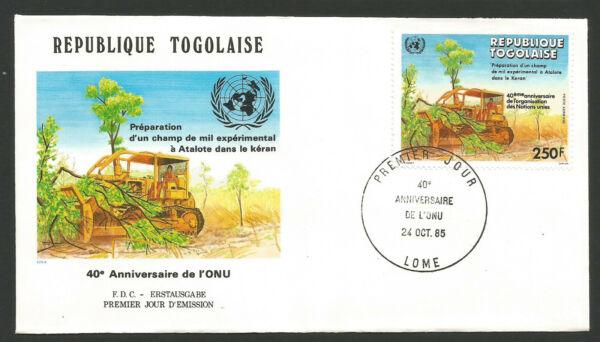Acheter Pas Cher Fdc 1er Jour République Togolaise 1985 Lomé O.n.u. /l1726 Couleurs Fantaisie