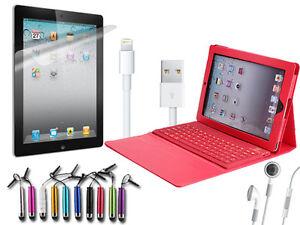 Ipad 4 Retina Display Starter Kit Keyboard Case Cable Earphones