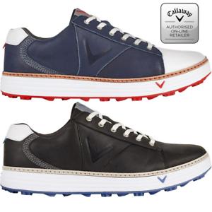 Callaway-Golf-Men-039-s-Delmar-Retro-Golf-Shoes-spikeless-leather-waterproof-M559
