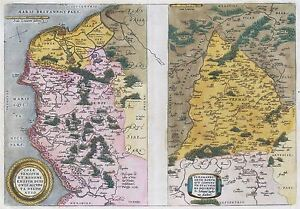 MAP-ANTIQUE-ORTELIUS-1579-CALAIS-VERMANDOIS-FRANCE-REPLICA-POSTER-PRINT-PAM1157