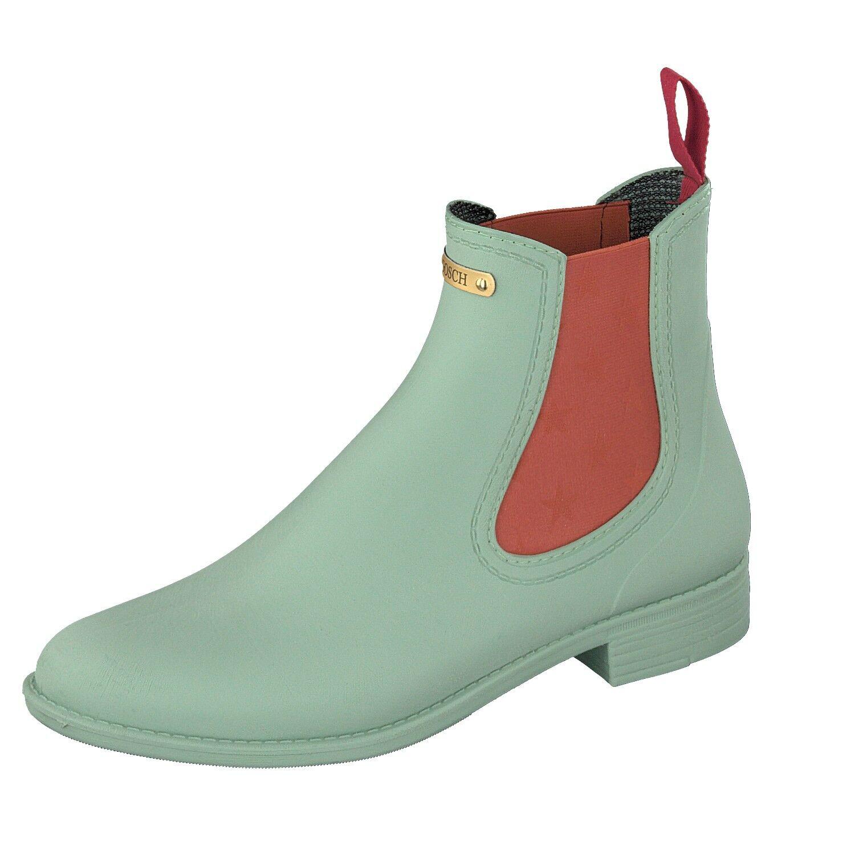 Gosch Schuhes Sylt Damen Schuhe Gummi Chelsea Stiefel 7105-310-706 Mintgrün
