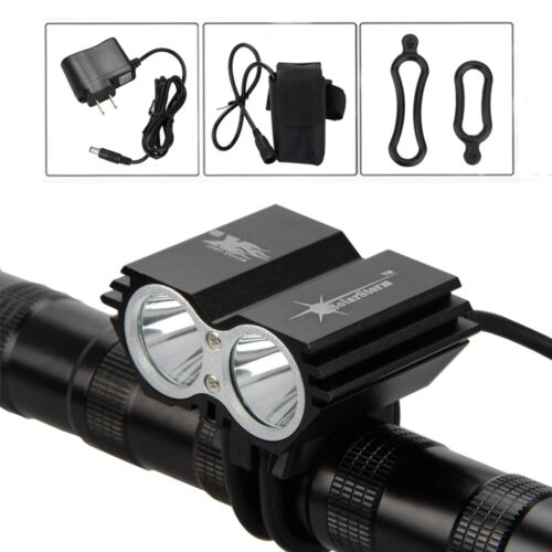 Rechargeable 6000LM 2xXML T6 LED SolarStorm Bike Bicycle Headlight Light Battery