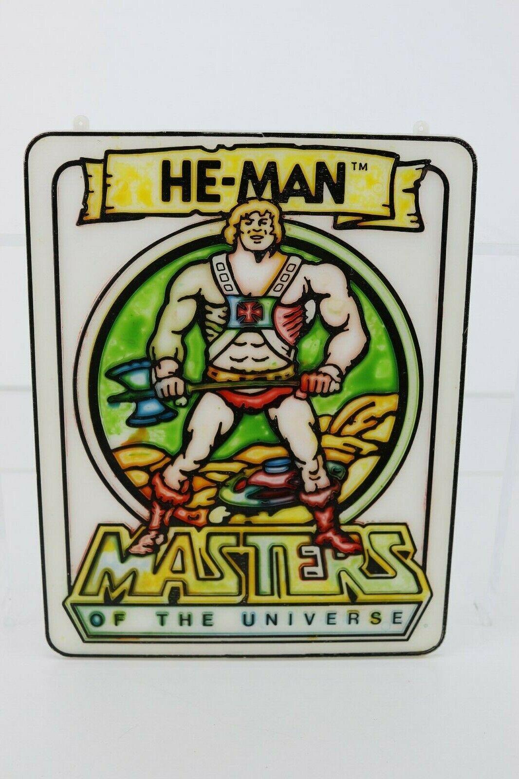 Vintage Motu He-Man plastic wall door hanging plaque Mattel