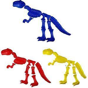 Details about T Rex Dinosaur Skeleton 10 Pcs Bones Sand Pit Mould Beach Toy  Kids Child Plastic