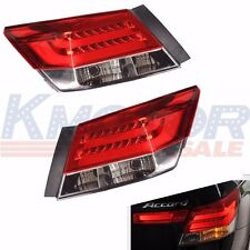 New Rear Set of 2 Led Brake Tail Lights For 2008-2012 Honda Accord 4 Door Sedan