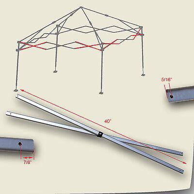Quest Q64 10x10 OldSt SLANT LEG Instant Canopy 2 PEAK TRUSS Bar Replacement Part