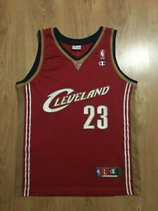 huge selection of 9bcf9 35fbb Details about NBA AUTHENTIC Cleveland Cavaliers LeBron James #23 Champion  Basketball Trikot L