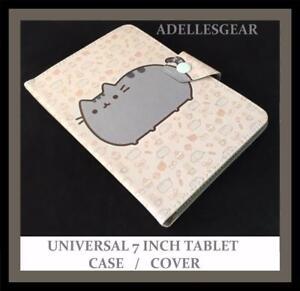KIDS-OR-CHILDRENS-UNIVERSAL-7-INCH-TABLET-COVER-CASE-POPULAR-CAT-BROWN-DESIGN